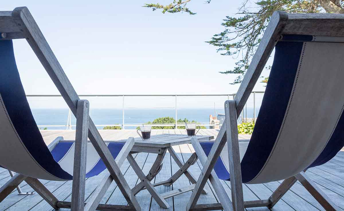 hotel terrasse vue mer bretagne